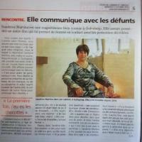 Article presse sandrine martina communique avec defunts dans l echo octobre 2016