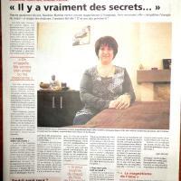 Article presse sandrine martina la magnétiseuse et ses mystères dans l echo janvier 2016