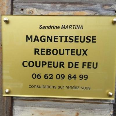 Plaque professionnelle sandrine martina 2